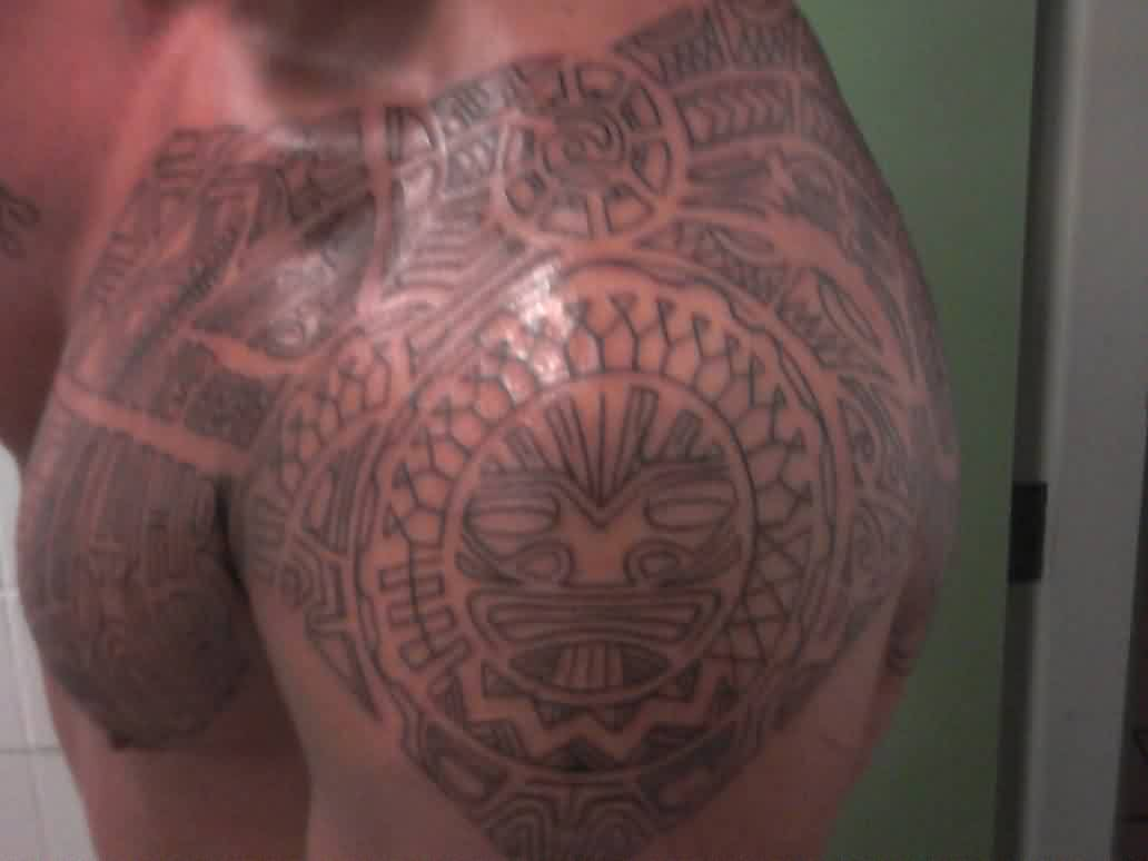 Polynesian Tattoos On Shoulder
