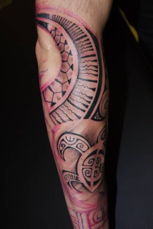 Polynesian Tattoos On Sleeve