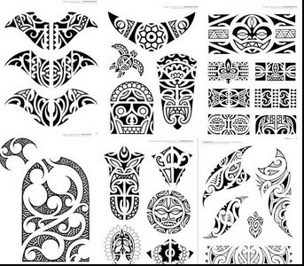Polynesian Tattoos Set