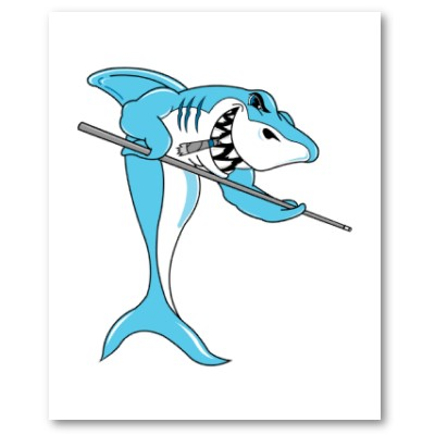 Pool Shark Tattoo Card