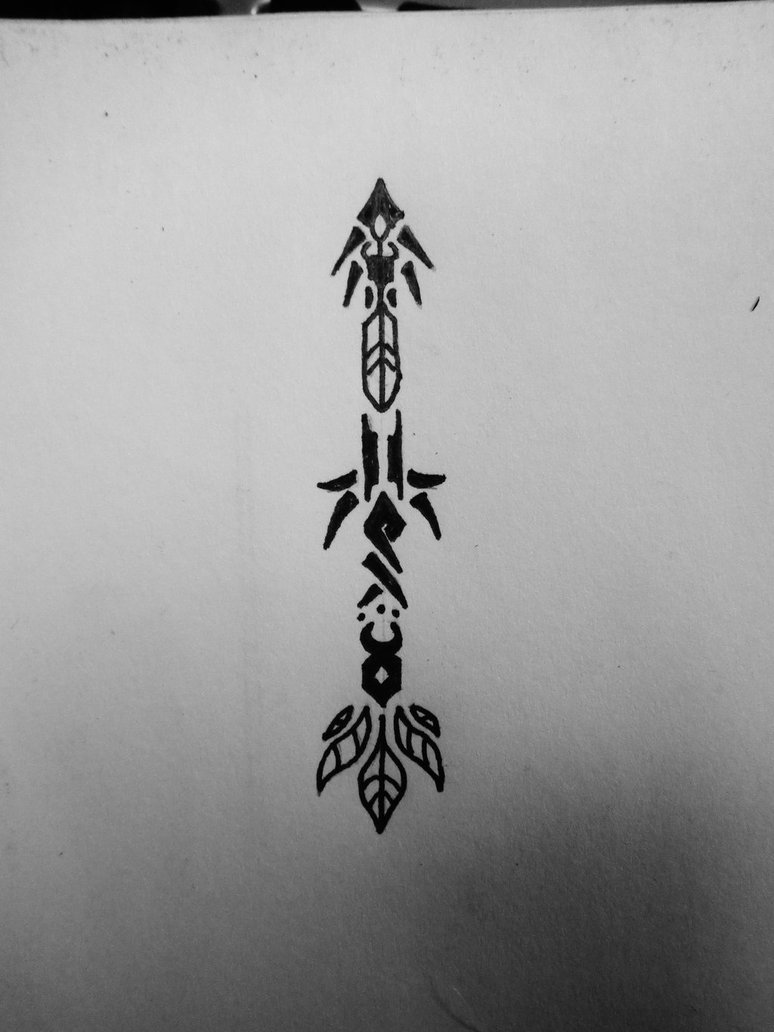 3 Inch Tribal Arrow Tattoo Design Page
