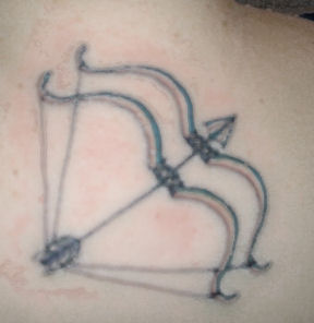 3D Dual Bow And Arrow Tattoo
