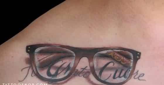 3D Glasses Tattoo