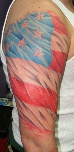 Terrific American Tattoos On Right Sleeve