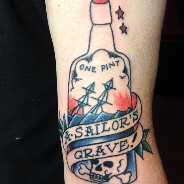 A Sailor's Grave - Bottle Tattoo