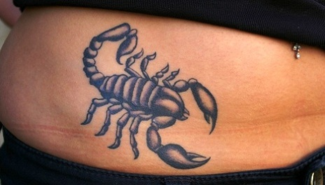 A Very Lovely Scorpion Tattoo On Hip