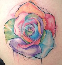 A Watercolor Rose Tattoo