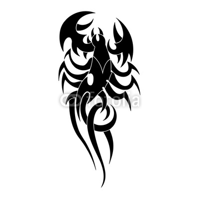 Again Tribal Scorpion Tattoo Design