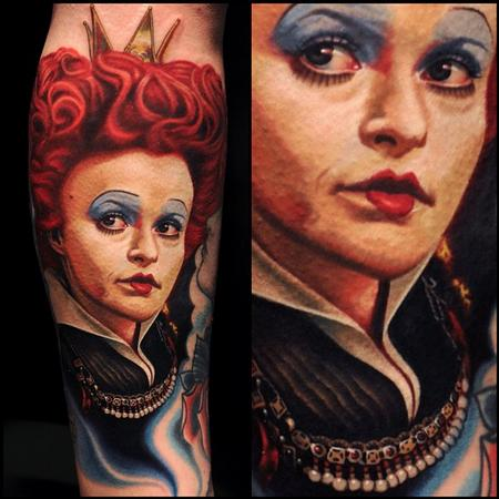 Alice Wonderland Portrait Tattoo