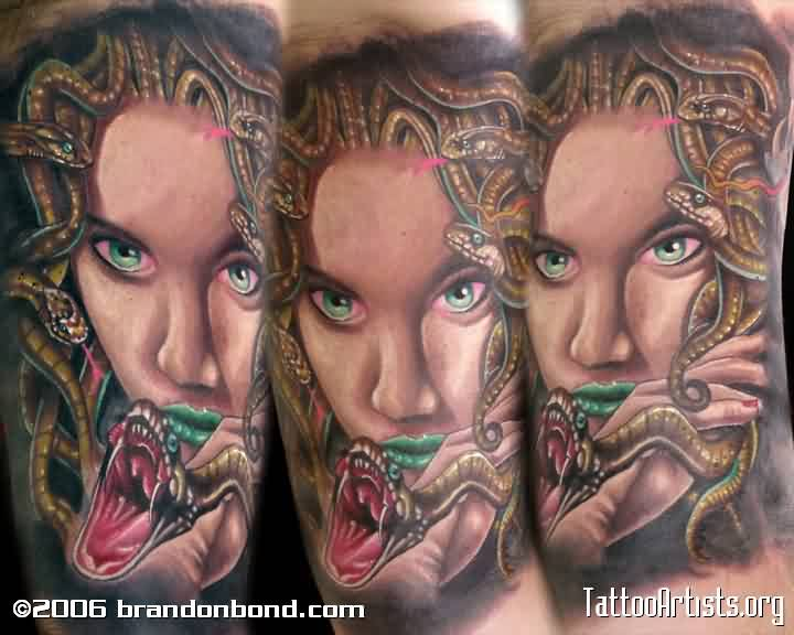 Alluring Medusa Portrait Tattoos