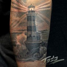 Almost Real Lighthouse Tattoo