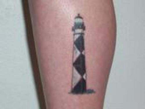 Alone Lighthouse Tattoo