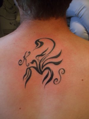 Alphabets And Tribal Scorpion Tattoos