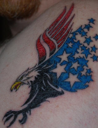 Amazing American Eagle Tattoo