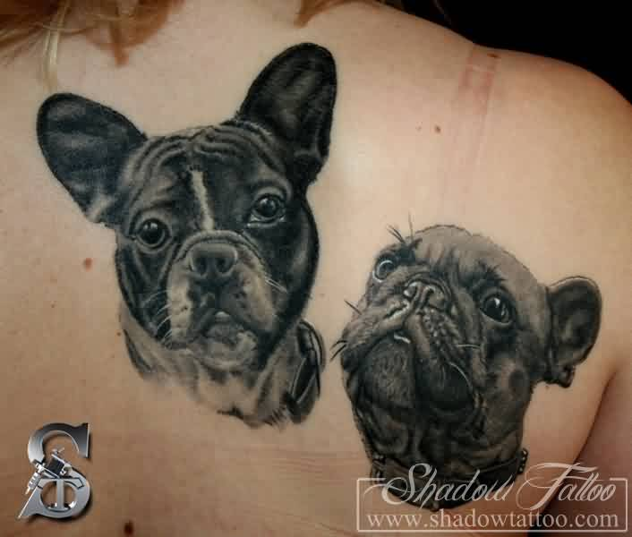 Amazing Dog Portrait Tattoos On Back
