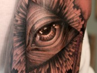 Amazing Eye Pyramid Tattoo