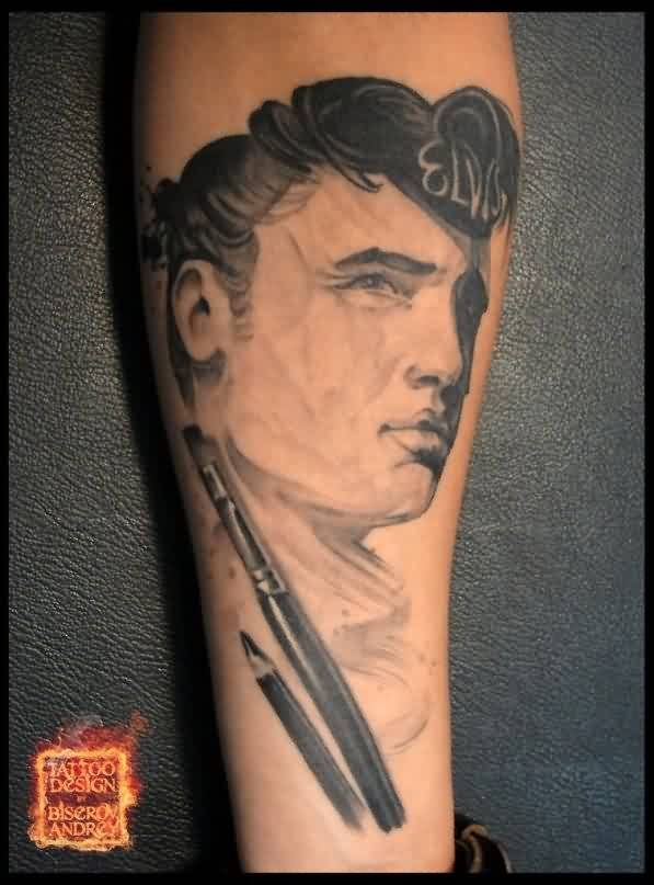 Amazing Guy Portrait Tattoo