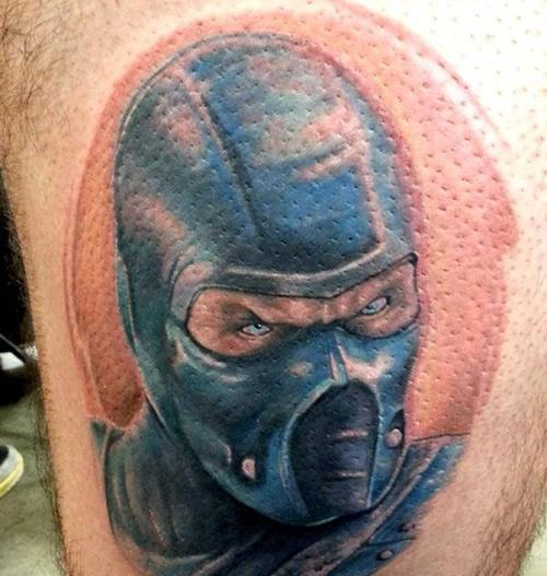 Amazing Mortal Kombat Portrait Tattoo