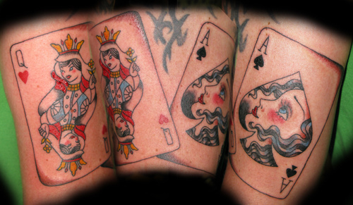 Amazing Queen Of Hearts Tattoos