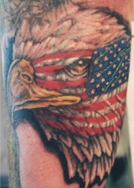 American Army Eagle Tattoo