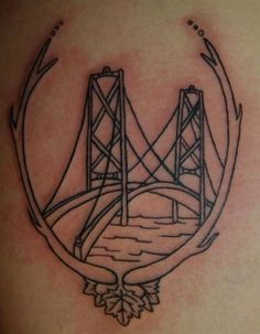 American Bridge Outline Tattoo