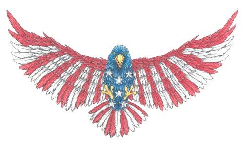 American Eagle Tattoo Stencil