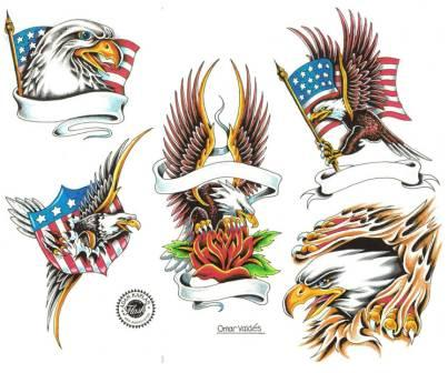 American Eagle Tattoos Set