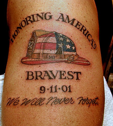 American Fire Helmet Tattoo