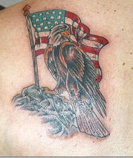 American Flag And Eagle Tattoo