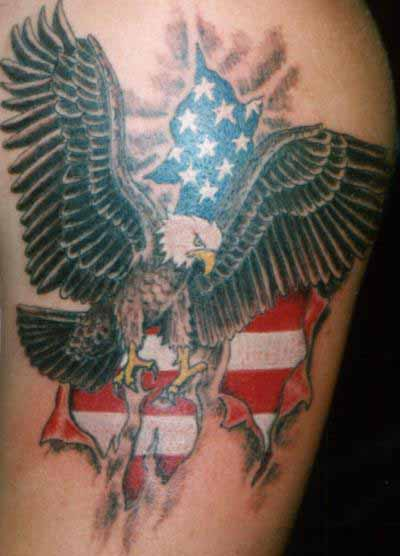American Flag And Eagle Tattoos