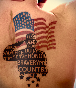 American Flag Cross Tattoo For Men