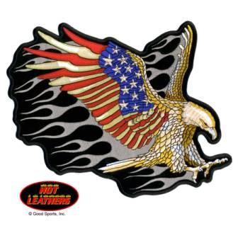 American Flag Eagle Tattoo Model
