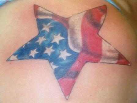 American Flag Star Tattoo