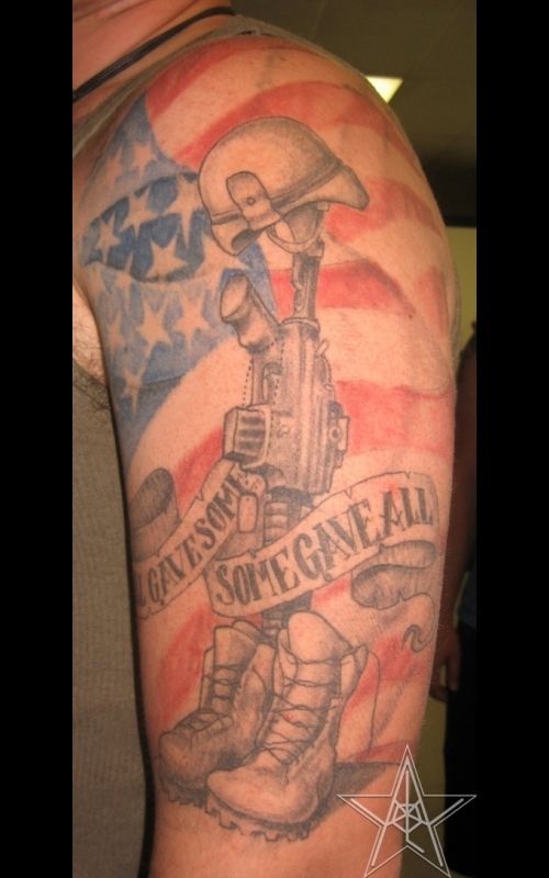 American Half Sleeve Tattoos