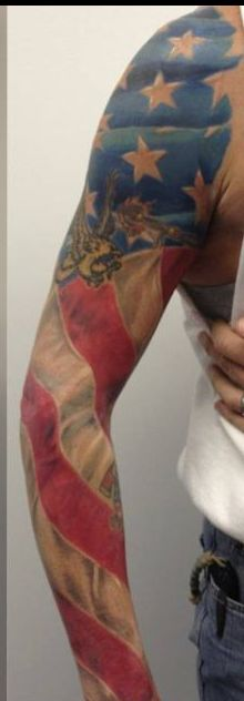 American Military Tattoos On Sleeve