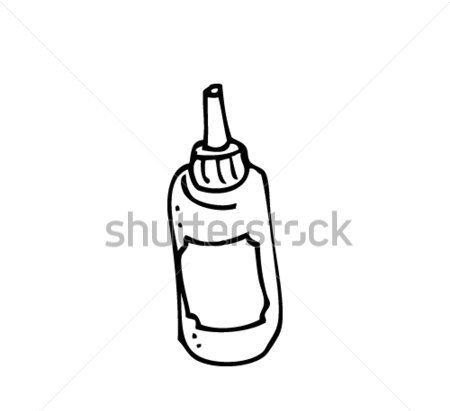 American Mustard Bottle Tattoo Drawing