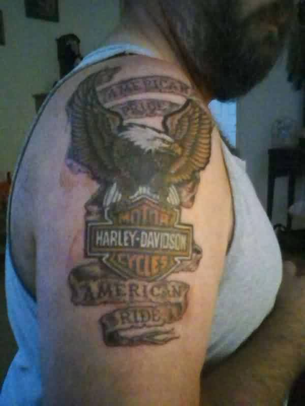 American Pride Tattoo On Biceps