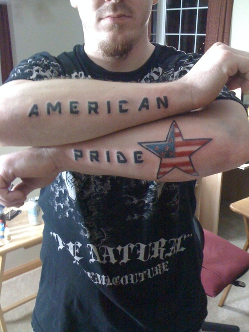 American Pride Tattoos On Arms