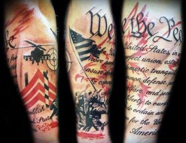 American Sleeve Tattoos