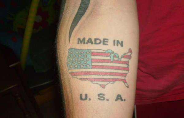 American Tattoo On Forearm