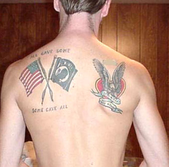 American Tattoos On Back Of Shoulders
