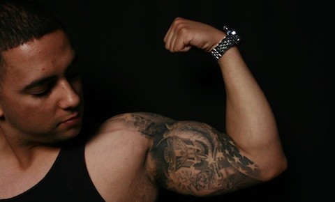 American Tattoos On Muscles
