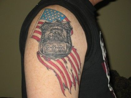 American Tattoos On Shoulder