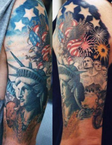 American Tattoos On Sleeve
