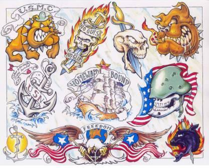 American Tattoos Sheet (2)