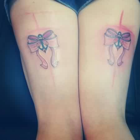 Anchor Ribbon Bow Tattoos