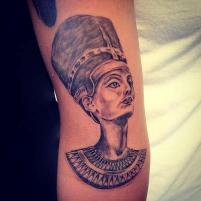 Ancient Egyptian Queen Tattoo On Arm
