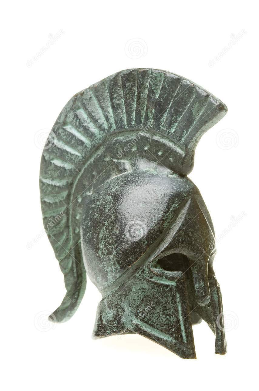 Ancient Greek Helmet Tattoo Design
