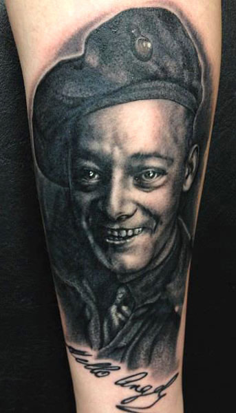 Andy Enge Portrait Tattoos On Arm