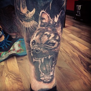 Angry Animal Face Portrait Tattoo